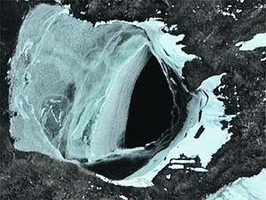 Антарктида дырка отверстие